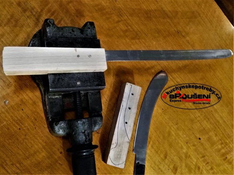 Výroba střenky starého dortového nože. 4
