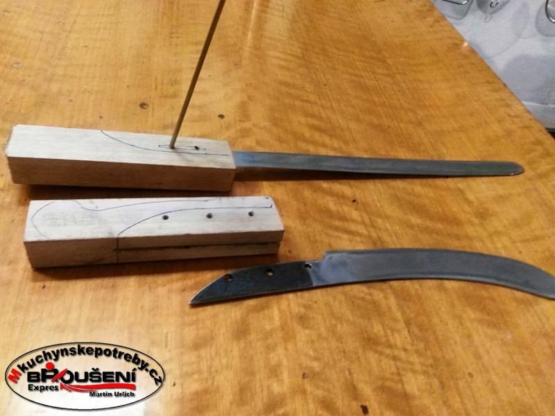 Výroba střenky starého dortového nože. 2