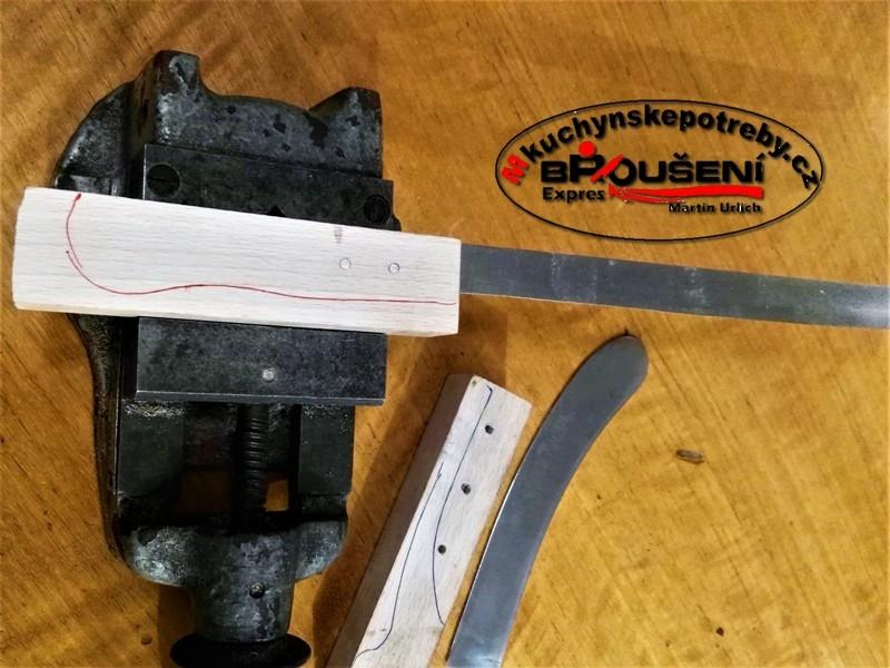 Výroba střenky starého dortového nože. 5