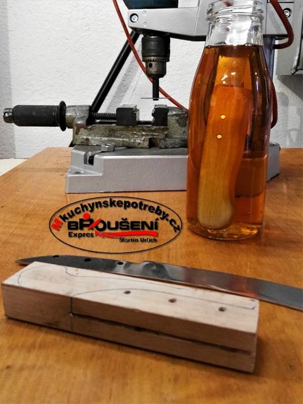 Výroba střenky starého dortového nože. 8