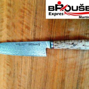 Broušení nožů z damascenské oceli