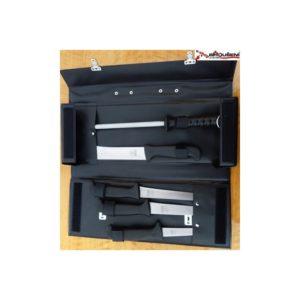 Sada řeznických nožů s ocílkou v praktickém kufříku, MIKOV 300.0 05/D